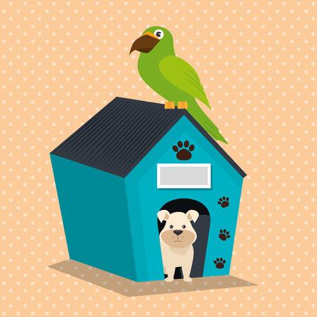 Mascotas lindas tienda de mascotas iconos ilustración vectorial diseño Foto de archivo - 97494520
