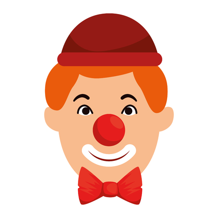 Clown head avatar character illustration design
