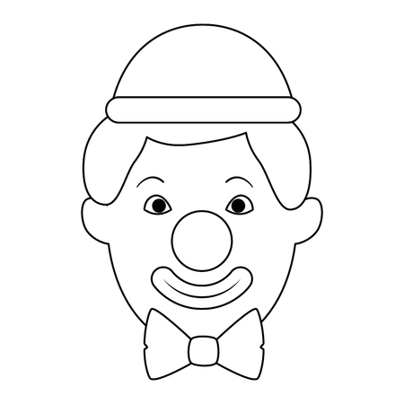 Clown head avatar character vector illustration design