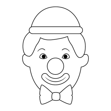 Clown head avatar character vector illustration design