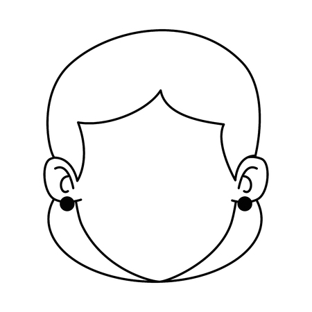 Woman adult head avatar character vector illustration design 일러스트
