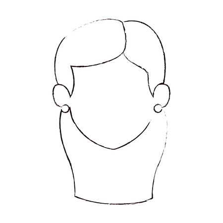 woman adult head avatar character vector illustration design