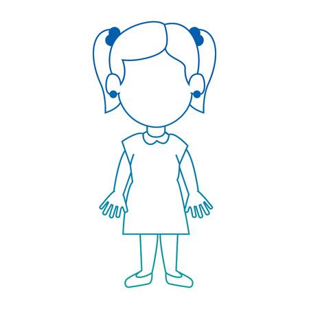 happy little girl character vector illustration design Illustration