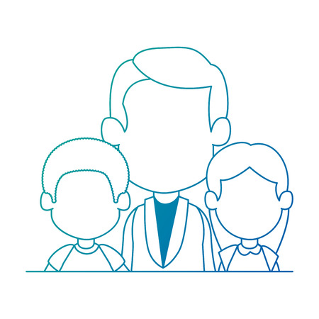 doctor with kids characters vector illustration design Foto de archivo - 97489455