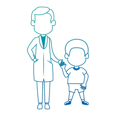 doctor with boy characters vector illustration design Foto de archivo - 97489456