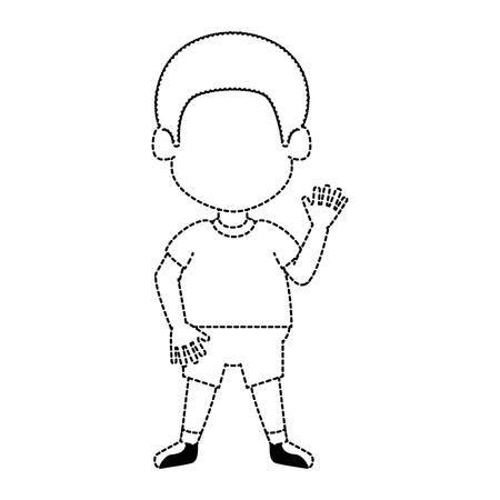 happy little boy character vector illustration design