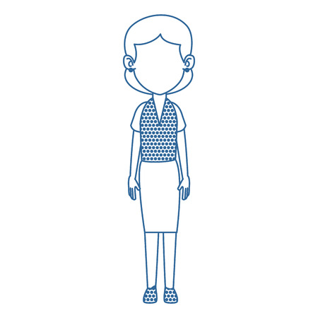 Woman adult avatar character vector illustration design
