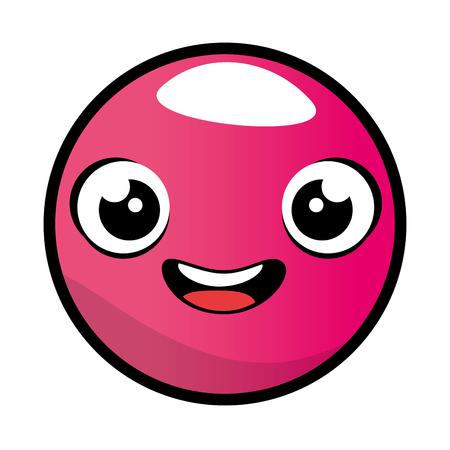 emoticon face kawaii character vector illustration design Illustration