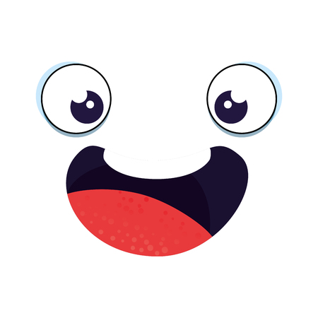 emoticon face kawaii character vector illustration design Ilustrace