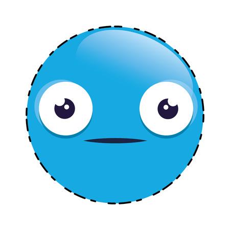 Emoticon face cute character vector illustration design.