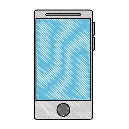 Smartphone device isolated icon, vector illustration design