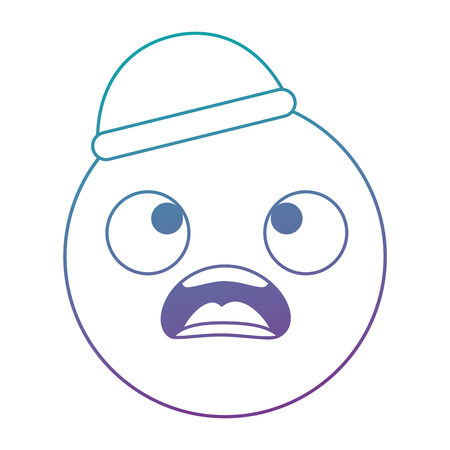 Emoticon face, kawaii character vector illustration design