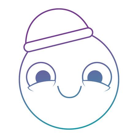 Emoticon circular smiley face, kawaii character vector illustration design
