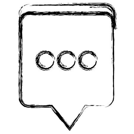 speech bubble message icon vector illustration design Çizim