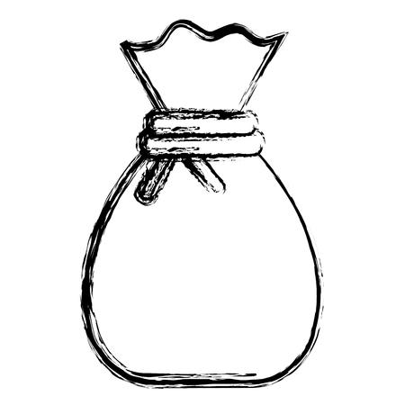 money bag isolated icon vector illustration design