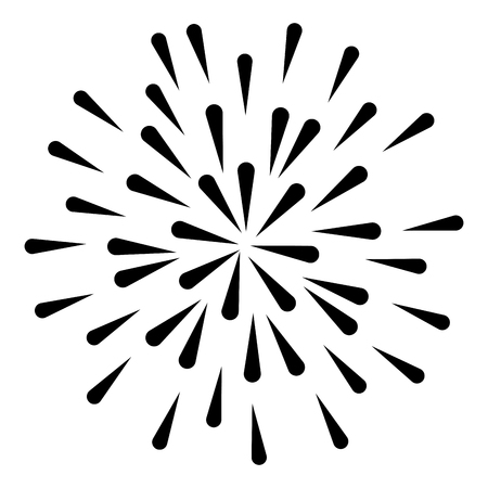 fireworks splash isolated icon vector illustration design Stockfoto - 97500743