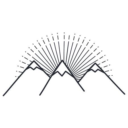 mountains peak isolated icon vector illustration design