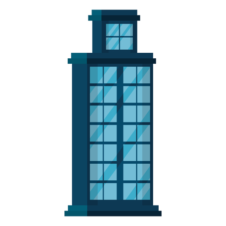building facade city icon vector illustration design