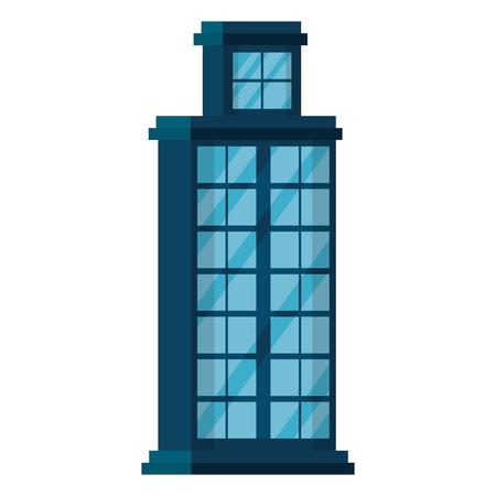 Progettazione dell'illustrazione di vettore dell'icona della città della facciata della costruzione Archivio Fotografico - 97510449