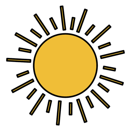 summer sun isolated icon vector illustration design