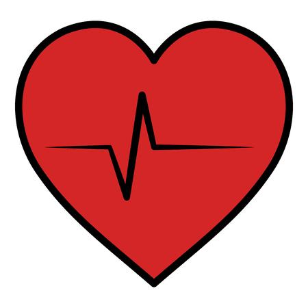 Cardiologie coeur isolé icône du design illustration vectorielle Banque d'images - 97510605