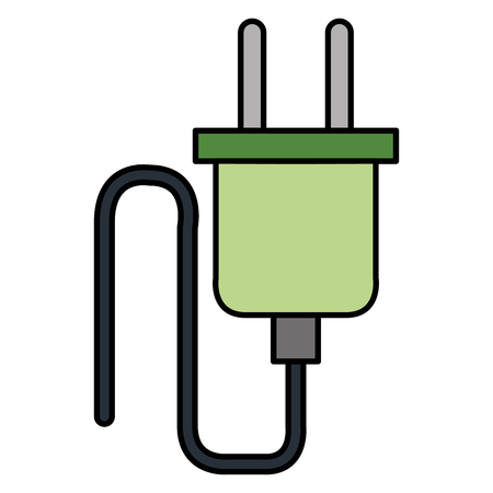 wire cable connector energy vector illustration design Çizim