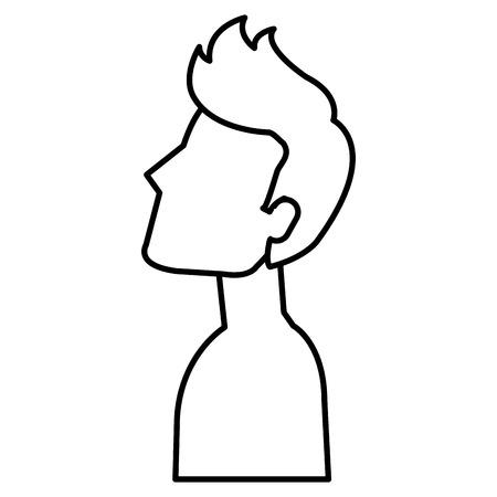 young man shirtless avatar character vector illustration design Stock Vector - 97573061