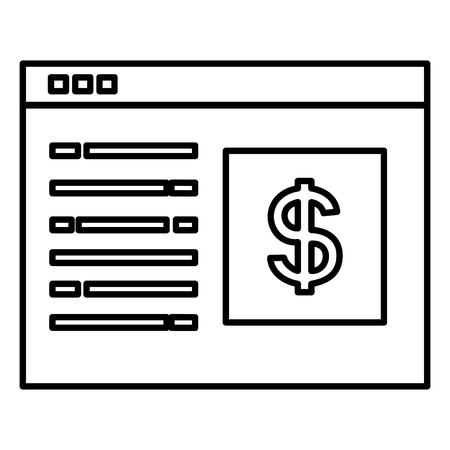 A template webpage with money symbol vector illustration design 일러스트