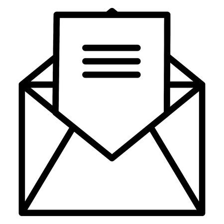 봉투 메일 격리 아이콘 벡터 일러스트 레이 션 디자인 스톡 콘텐츠 - 97504555