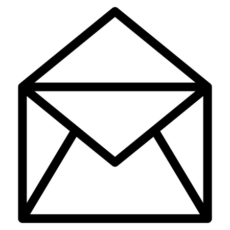 Envelope mail isolated icon vector illustration design  イラスト・ベクター素材