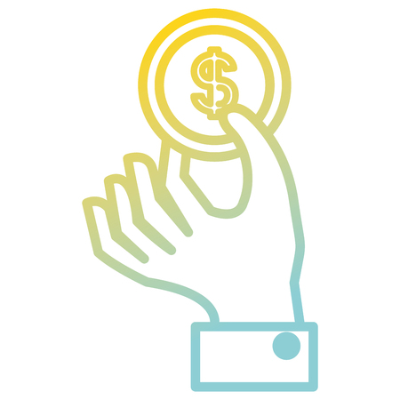 Hand with coin isolated icon vector illustration design 写真素材 - 97620073