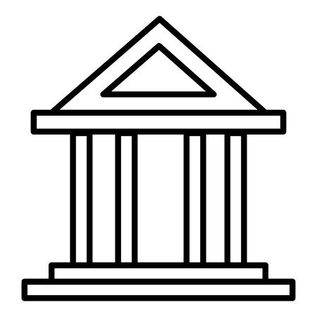 bâtiment de banque isolé icône du design illustration vectorielle