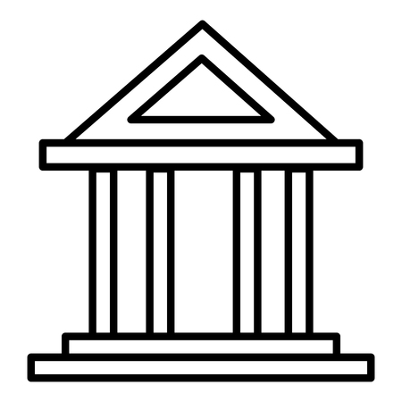 bank building isolated icon vector illustration design Vectores