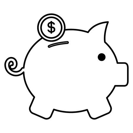 piggy savings isolated icon vector illustration design Standard-Bild - 97514059