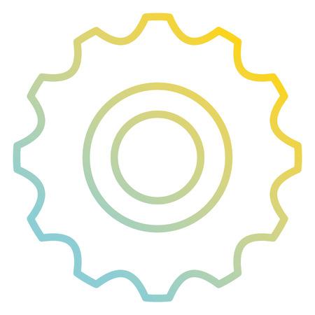 Gear  icon  illustration design