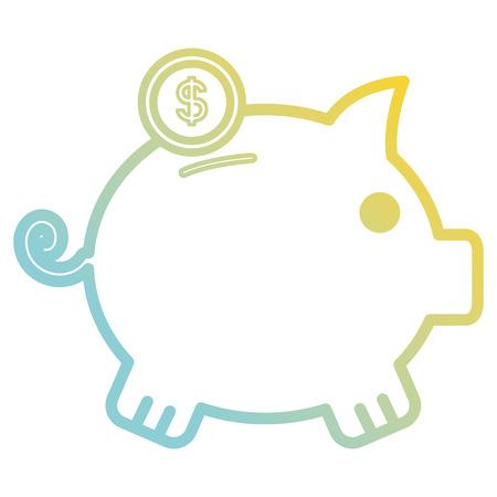 Piggy bank icon illustration design Иллюстрация