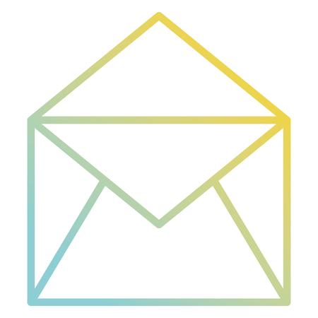 메일 봉투 격리 아이콘 그림 디자인을 엽니 다 일러스트
