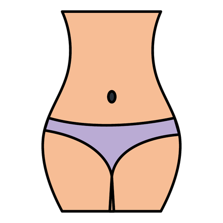 女性腰フィギュア アイコン ベクトルイラストデザイン  イラスト・ベクター素材
