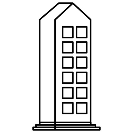 Building facade city icon vector illustration design Illustration
