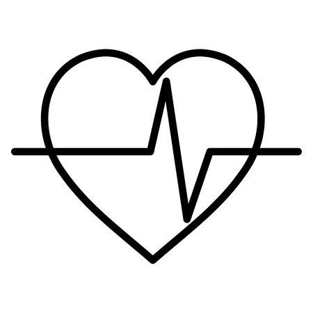 Heart cardiology isolated icon illustration design