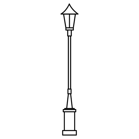 Park lamp post isolated icon  illustration design