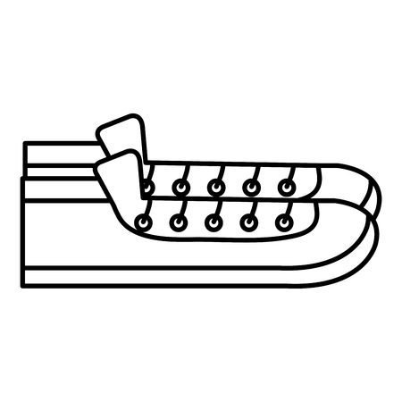Shoe style  icon  illustration design