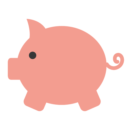 Piggy bank isolated icon  illustration design Stok Fotoğraf - 97550535