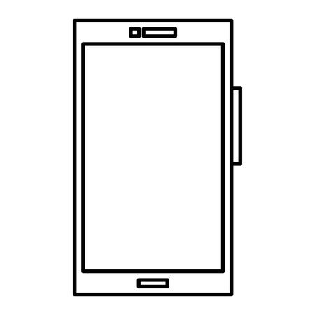 Smartphone device isolated icon illustration design