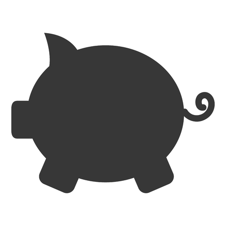Piggy bank isolated icon vector illustration design