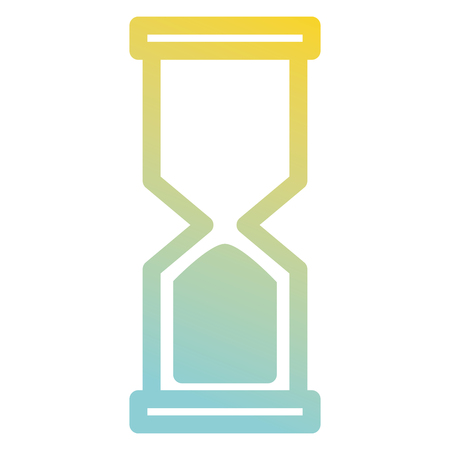 Hourglass isolated icon vector illustration design Illustration