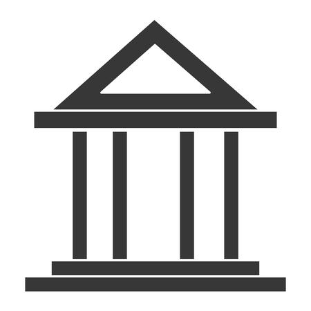 Bank building isolated icon vector illustration design Ilustração