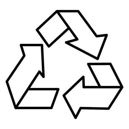 Recycleer ontwerp van de het pictogram het vectorillustratie van het pijlensymbool