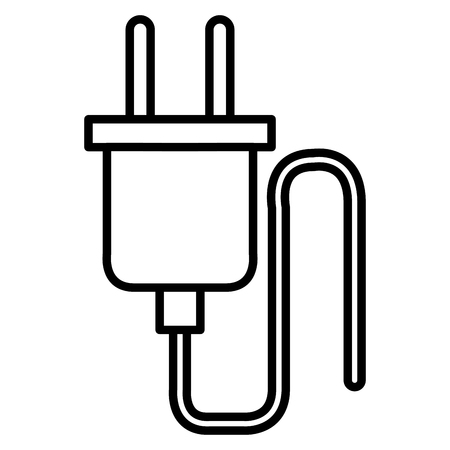 Wire cable connector energy vector illustration design