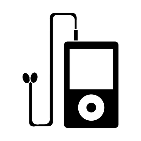 mp3 music player device icon vector illustration design